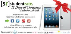 Like, repin & follow us to enter the 12 Days of Xmas Giveaway to win an iPad mini #12DaysofSR  Enter the giveaway @ Studentrate.com