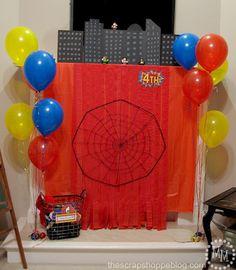 The Scrap Shoppe: Superhero Party! 5th Birthday Party Ideas, Party Themes For Boys, Superhero Birthday Party, Birthday Parties, Picture Backdrops, Party Pictures, Paint Party, Party Time, Scrap
