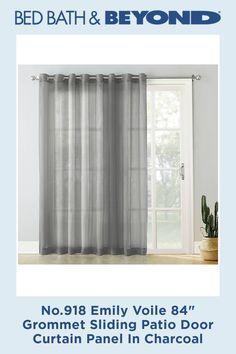 8 Voiles Ideas Patio Door Curtains