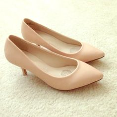 Light pink heels Perfect condition- worn once-still have box- runs a little small (says 9, but probably more of an 8 1/2)- 2 inch heel Liliana Shoes Heels