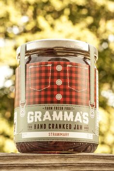 Ben Loht / Gramma's Hand Cranked Jam via @thedieline #design #packaging