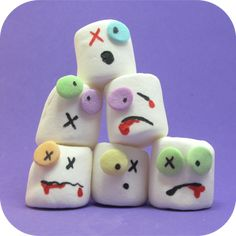 Marshmallow Zombie - 15 Cute Halloween Food Ideas