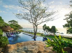 The Vana Belle's main pool has panoramic views of the Gulf of Thailand.