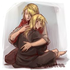 alphonse elric and Riza Hawkeye  | Tumblr| She cares so much for those boys.