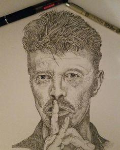 David bowie pointillism