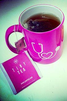 Cute Gift For A Nurse! Stethoscope Mug + Tiny Tea (Helps Clear Skin, too!)
