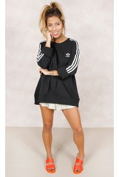 Blusa Adidas 3 Stripes Preto Fashion Closet - fashioncloset