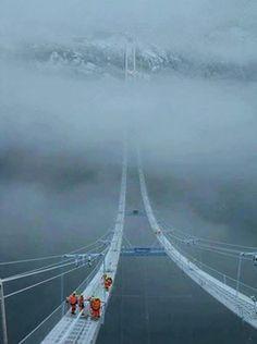 The Norway Sky Bridge . way to heaven!