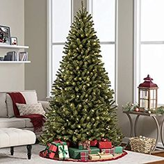 Best Choice Products Pre-Lit Spruce Hinged Artificial Christmas Tree w/ 550 UL-Certified LED Lights, Foldable Stand - Green Best Artificial Christmas Trees, Spruce Christmas Tree, Fiber Optic Christmas Tree, Pre Lit Christmas Tree, Beautiful Christmas Trees, Christmas Tree Decorations, Xmas Trees, Christmas Time, Christmas Ideas