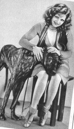 Clara Bow and a brindle Great Dane! :) Learn more about the beautiful brindle dog here: http://www.vet-organics.com/brindle-beauties/ ! :)