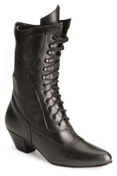 Victorian Ladies Boot, black.  Like!