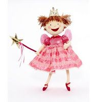 "Pink, pink, pink. More than anything, Pinkalicious loves the color pink. Inspired by the NY Times Bestselling children's book series ""Pinkalicious"", this soft Pinkerbelle doll stands 18"" tall and dressed in her iconic fairytale dress, a beautiful pink bodice with silver dots, short puffed sleeves and pink satin skirt trimmed with pink lace and dark pink satin shoes and complete with her wand, tiara and wings. Ages 3 & up. Available at Madamealexander.com and FAO.com. Bright Pink Dresses, Kids Book Series, Satin Shoes, Soft Dolls, Pink Sweets, Madame Alexander Dolls, Princess Outfits, Wand, Pajama Set"