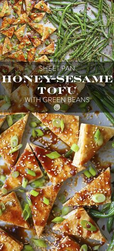 Simple Sheet Pan Sesame Tofu and Green Beans Recipe. Sheet pan dinners ...