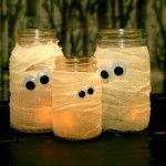 DIY Mummy Jars for Halloween