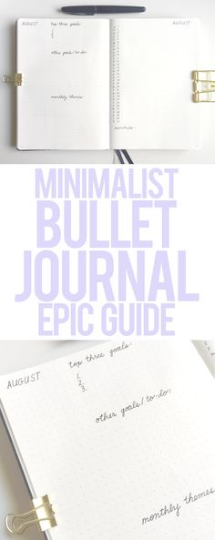 A minimalist bullet journal can help you save time and money. Here are my minimalist bullet journal set up tips and ideas, as well as examples to inspire! Digital Bullet Journal, Bullet Journal Printables, Bullet Journal How To Start A, Journal Template, Bullet Journal Spread, Bullet Journal Layout, Bullet Journal Inspiration, Bullet Journals, Writing Inspiration