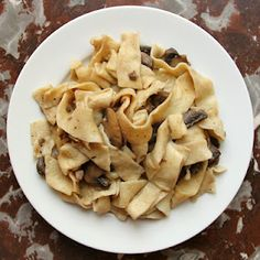Homemade pasta with mushrooms and truffles  I had this in Verona and haven't forgotten how delicious it was.