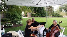 Piano Trio (Piano, Violin, Cello) playing ceremony at the beautiful Avon Gardens in Avon IN
