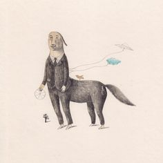 Au Galop by Joanna Concejo Size: SMALL 8 x 8 inches (20,3 x 20,3 cm.) Giclée print of an original drawing on paper, pencil and colored pencils.  $80 Limited edition prints for sale @Toi Art Gallery French Artists, Limited Edition Prints, Book Illustration, Spirit Animal, Prints For Sale, Colored Pencils, Art Gallery, Creatures, Sketches