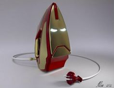 The Iron Man iron, man. This conceptual Iron Man iron was created by an artist by the name of Mái. The Iron Man color gamma cleverly turned this iron into an awesome piece. Iron Men, Avengers Film, The Avengers, Avengers Memes, Geeks, Iron Man Marvel, How To Iron Clothes, Decoration Originale, Take My Money
