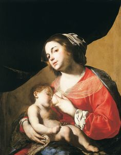 Bernardo Cavallino (1616–1656), Kojící Madona