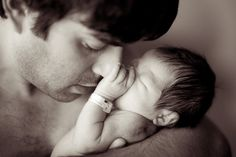 Nothing beats a daddy loving on his new baby <3