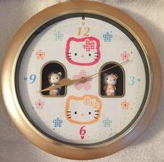 SANRIO Hello Kitty Mimmy Animated Musical WALL CLOCK 1996  #Sanrio