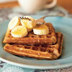 Banana-Cinnamon Waffles   CookingLight.com