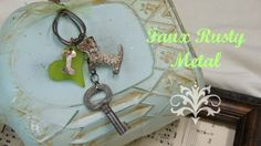 Media Mixage Monday with Artist Linda Peterson for @Spellbinders  faux rusty metal charm