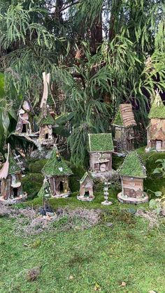 Fairy Tree Houses, Fairy Village, Fairy Garden Houses, Gnome Garden, Indoor Fairy Gardens, Mini Fairy Garden, Miniature Fairy Gardens, Forest Fairy, Fairy Land
