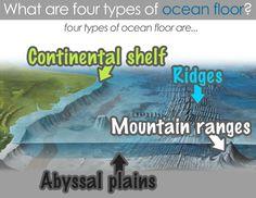 Classical Conversations Cycle 1: Week 18-Science Four Types of Ocean Floor