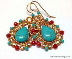 Wire Wrapped Geetha Earrings