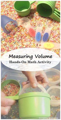 hands-on math activity: measuring volume math activity