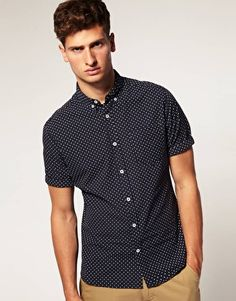 ASOS Polka Dot Button Down Shirt