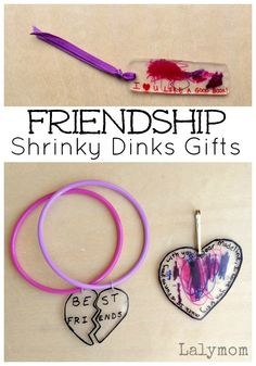 Friendship Shrinky Dinks Gifts - 100 Acts of Kindness Challenge