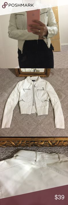 Bebe leather jacket Nice and soft Bebe leather jackets. See picture for details. bebe Jackets & Coats Trench Coats