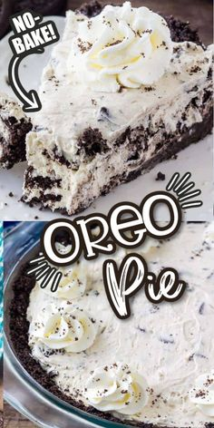 Easy Pie Recipes, Baking Recipes, Cookie Recipes, Dessert Recipes, Oreo Cheesecake Recipes, Oreo Recipe, Oreo Desserts, Cheesecake Cupcakes, Cheesecake Bites