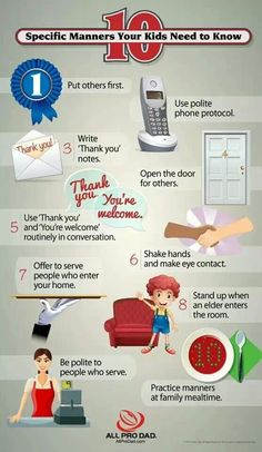 10 Specific Manners Your Kids Need to Know