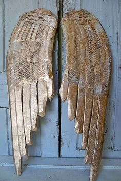 Large gold wooden wings wall sculpture by AnitaSperoDesign on Etsy, $195.00