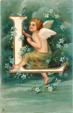 E.H. Clapsaddle | Cupid's Alphabet - The Letter - L