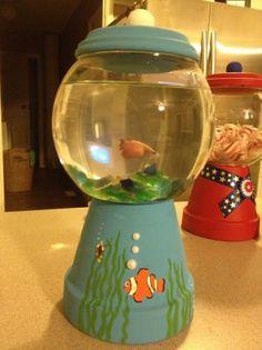 Gum ball fish tank made from terra