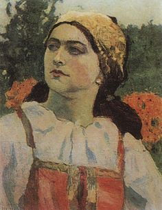 Mikhail Vasilyevich Nesterov (1862 -1942). Peasant Stesha | Михаил Васильевич Нестеров. Крестьянка Стеша