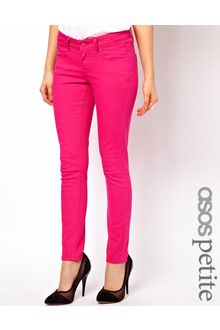 petite skinny jeans | Asos Petite Exclusive Skinny Jeans i in Green | Lyst