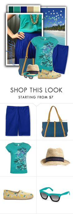 """""""Hot Tuna T Shirt Ladies"""" by tasha1973 ❤ liked on Polyvore featuring Lands' End, Lancel, Hot Tuna, TOMS and Dsquared2"""