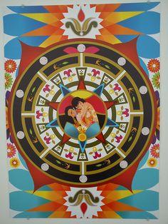 """Ilustración de """"Las Flores"""" de Cafe Tacuba, exposición; Seguimos siendo."""