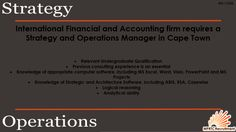 Strategy & Operations Manager