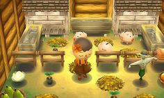 pigeoncoffee: the barn is finished Animal Crossing Guide, Ac New Leaf, Happy Home Designer, 70s Home Decor, Post Animal, Cool Rooms, Childhood, Barn, It Is Finished