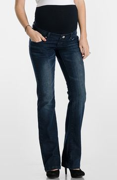 Lilac Clothing 'Signature' Bootcut Maternity Stretch Jeans available at #Nordstrom