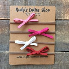 The Julie Bow in Suede by RudysCutiesShop on Etsy suede baby Nylon headband bow