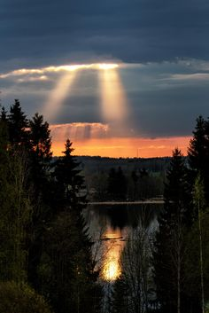 The last sunbeams of the day.