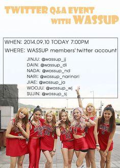 Wassup (Wa$$up) 와썹 - Twitter accounts